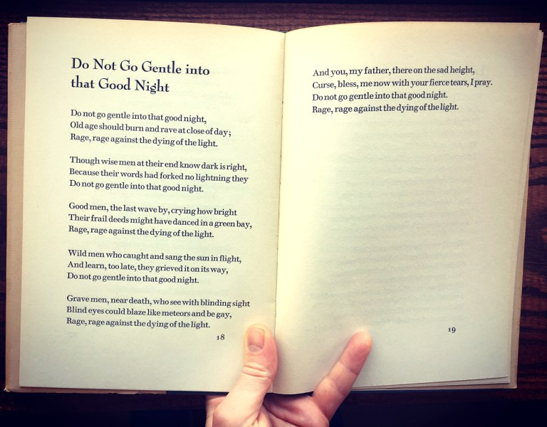 the inevitability of death in do not go gentle into that good night by dylan thomas
