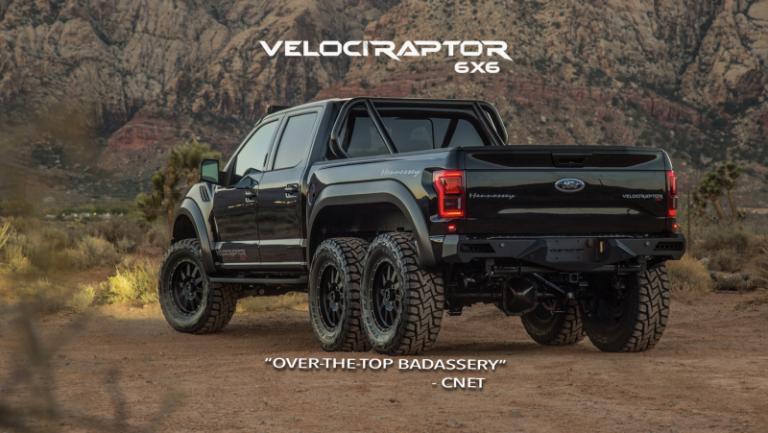 Custom Built 2018 Ford Raptor 'The Velociraptor' Is A 6×6 ...
