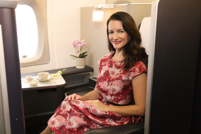 """""""Sex And The City"""" Actress Kristin Davis Launches British Airways A380Flights Between London And Singapore"""